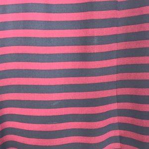 BCBGMaxAzria Tops - BCBG Black and Maroon Stripe Blouse